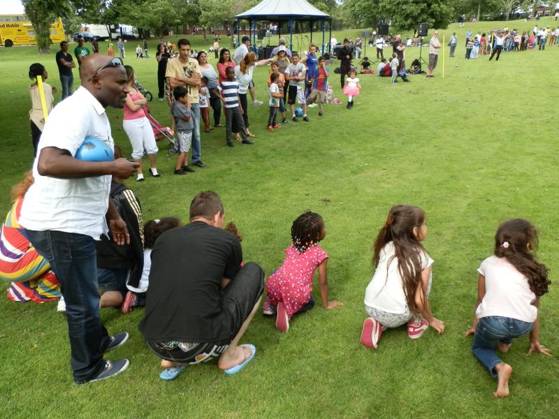 The children having a running race