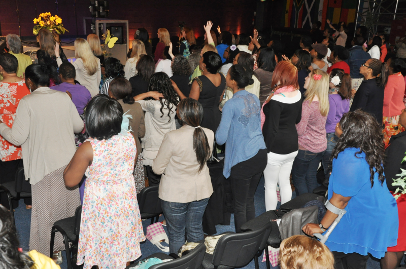 Ladies day or being ministered to & praise and worship